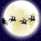 Flying Santa and Full Moon - GraphicRiver Item for Sale