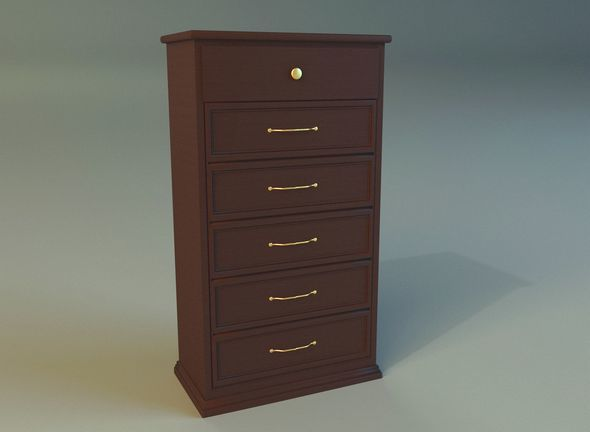 Old commode drawers dark - 3DOcean Item for Sale