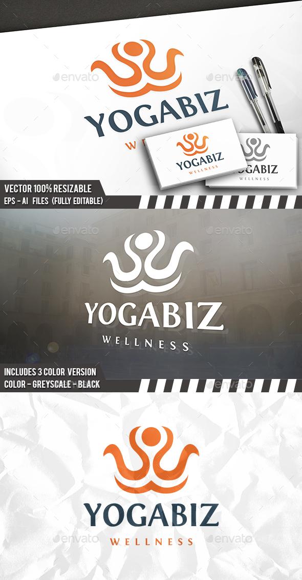 Yoga Logo - Symbols Logo Templates
