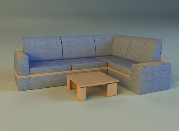 Cloth corner sofa - 3DOcean Item for Sale