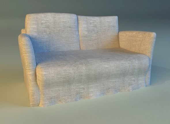 Sofa  white cloth - 3DOcean Item for Sale