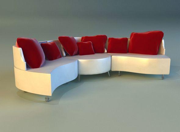 Sofa luxury leather folding - 3DOcean Item for Sale