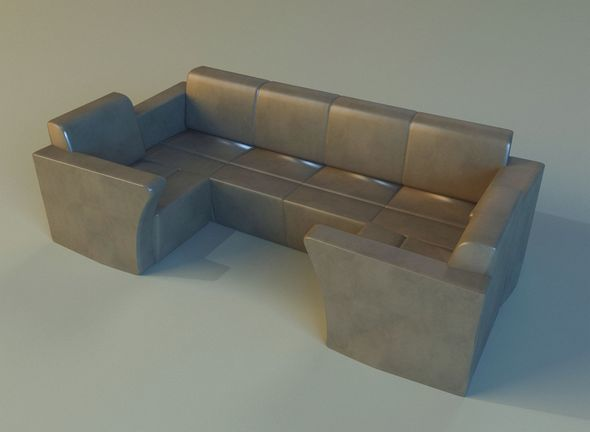Sofa luxury leather for cafe - 3DOcean Item for Sale