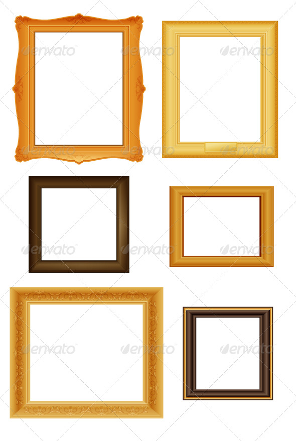 Picture frames vector set - Decorative Vectors