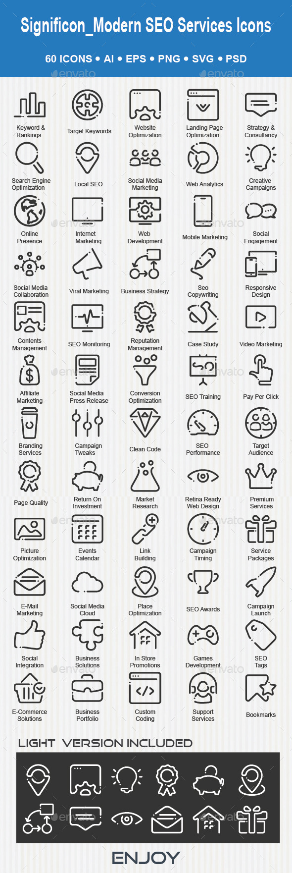 Web & SEO Services Icons - Web Icons