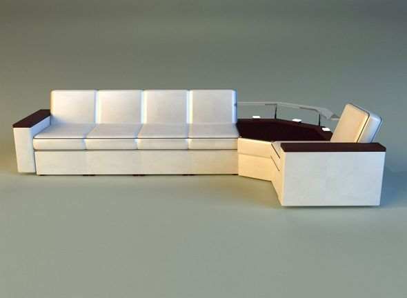 Corner modern sofa - 3DOcean Item for Sale