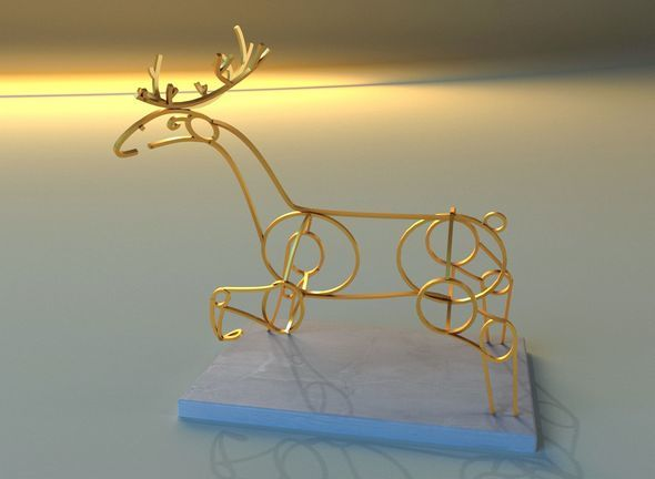 Statue of deer - 3DOcean Item for Sale