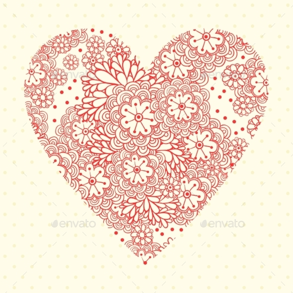 Floral Romantic Background with Flowers - Valentines Seasons/Holidays