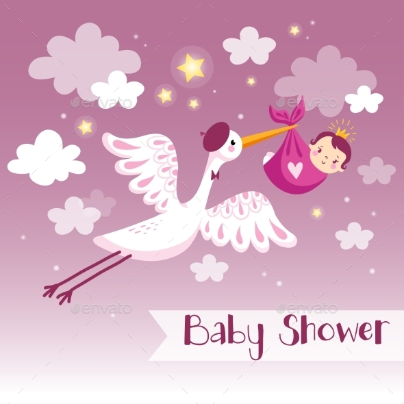 Cartoon Baby Background - Decorative Symbols Decorative