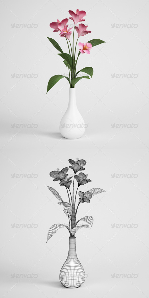 CGAxis Flowers in Vase 02 - 3DOcean Item for Sale