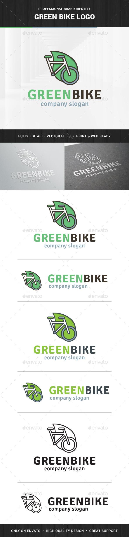 Green Bike Logo Template - Objects Logo Templates