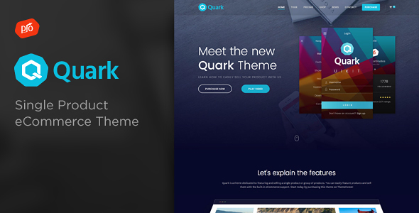 Quark – Single Product eCommerce Theme