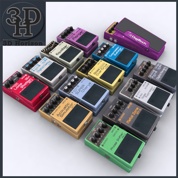 Boss Guitar Effect Collection - 3DOcean Item for Sale