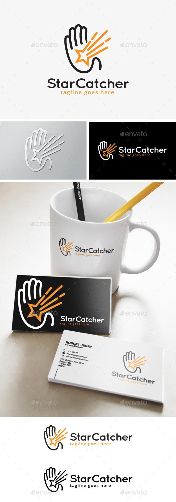 Star Catcher Logo - Objects Logo Templates