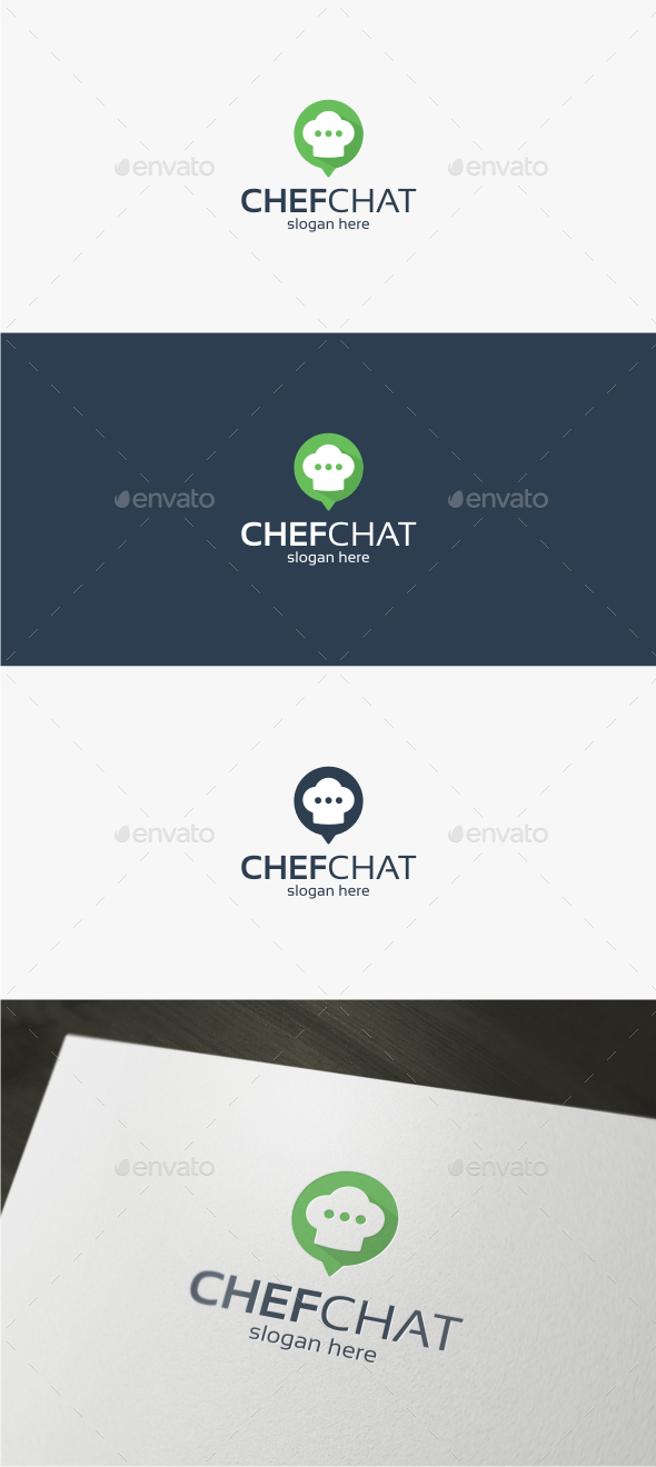 Chef Chat - Logo Template - Food Logo Templates