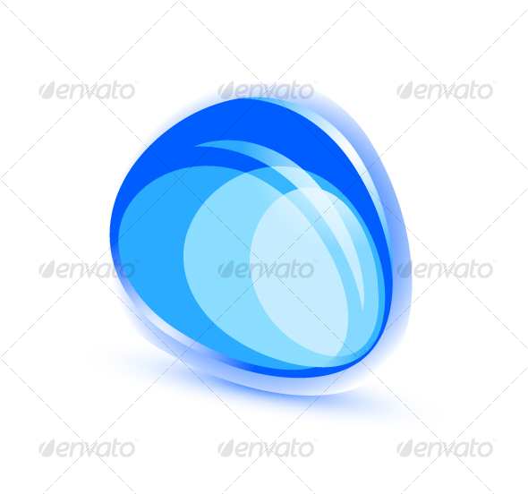 Abstract blue shape - Web Technology