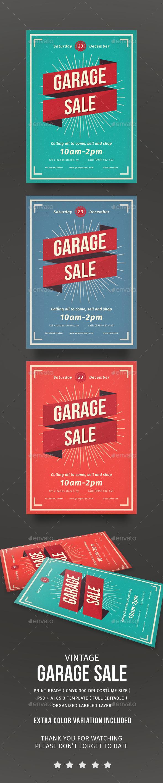 Vintage Garage Sale flyer - Flyers Print Templates