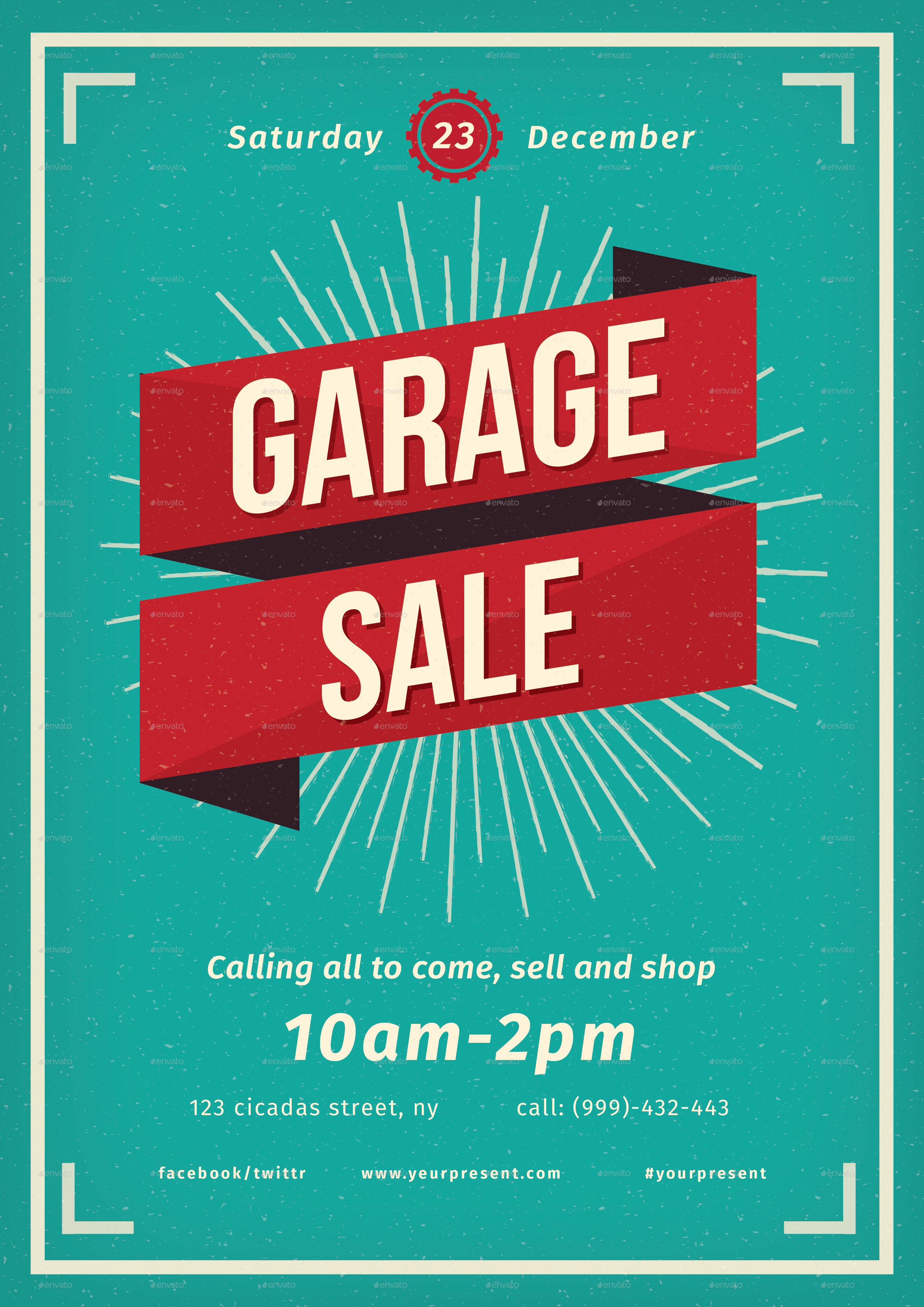 Vintage Garage Sale flyer by lilynthesweetpea | GraphicRiver