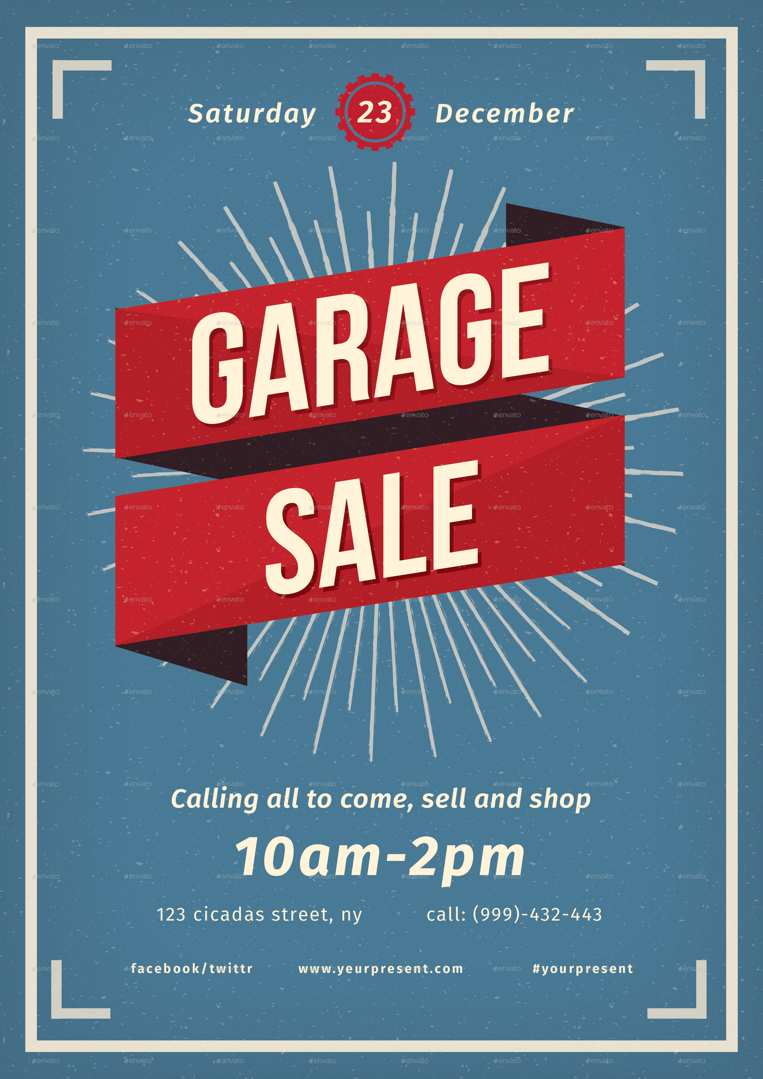 vintage garage sale flyer by lilynthesweetpea