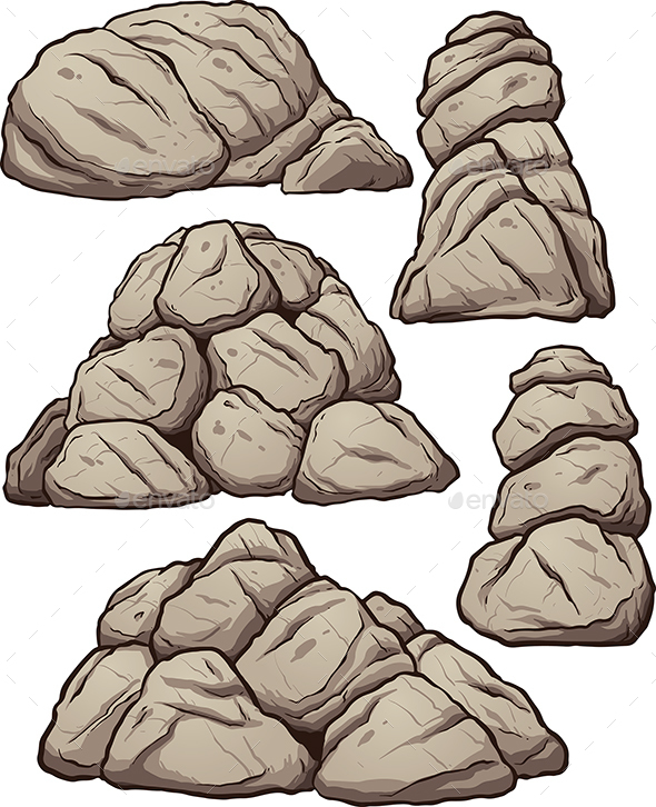 Piles of Rocks - Organic Objects Objects