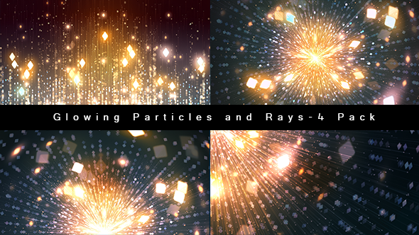 Glowing Particles and Rays-4 Pack