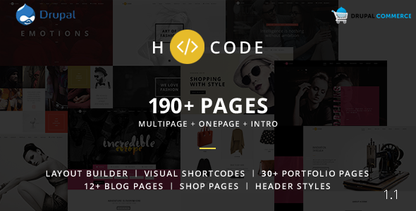 H-code - Multipurpose Commerce Drupal theme - Business Corporate