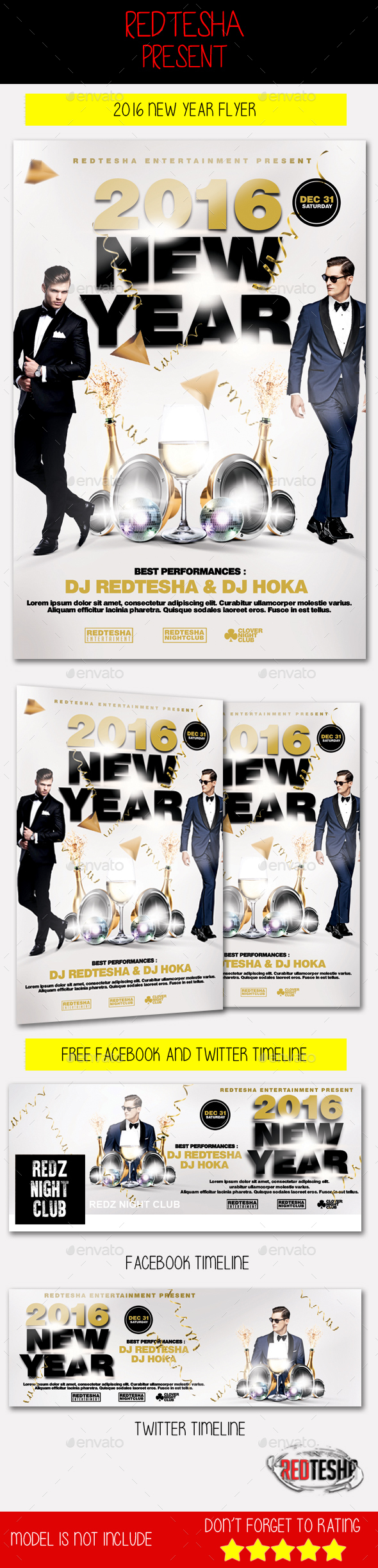 2016 New Year Flyer - Holidays Events