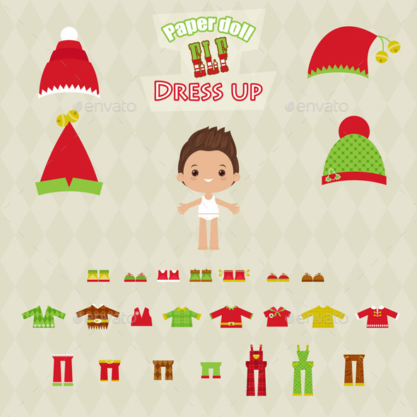 Elf Character Illustration Dress Up Game - People Characters