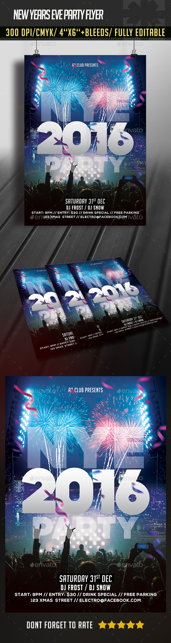 New Years Eve Flyer - Clubs & Parties Events
