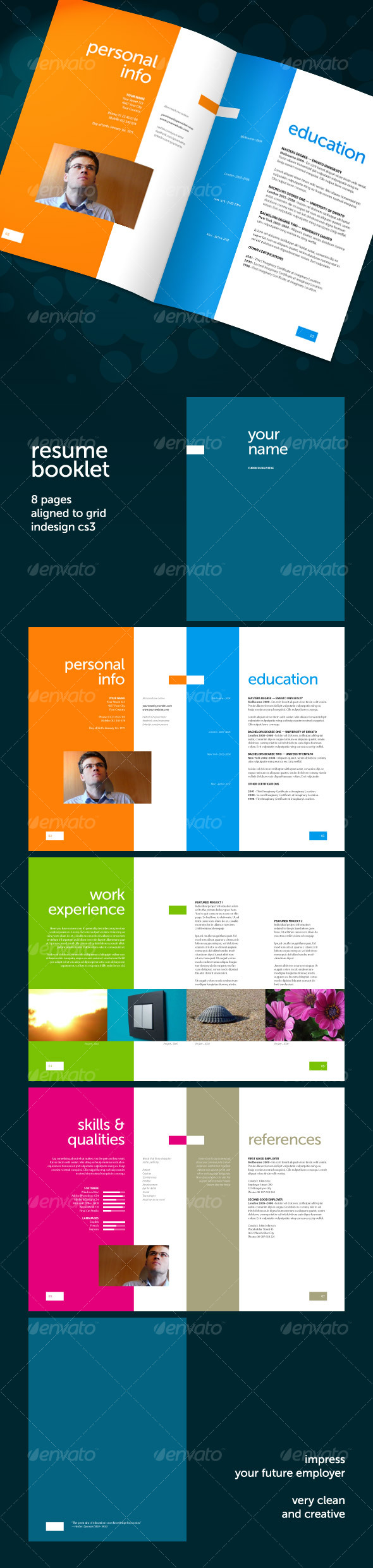 Captivating Resume Booklet (8 Pages)   Resumes Stationery