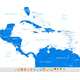 Central America Map and Set with Navigation Icons - GraphicRiver Item for Sale