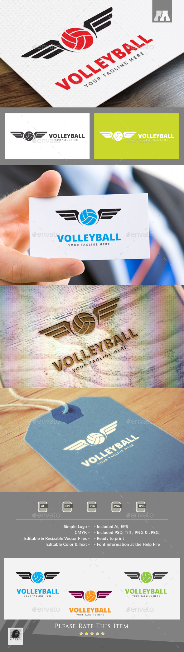 Volleyball Logo - Symbols Logo Templates