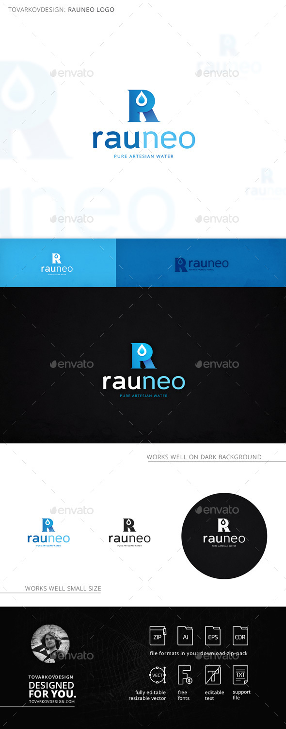 Rauneo Letter R Logo Template - Letters Logo Templates