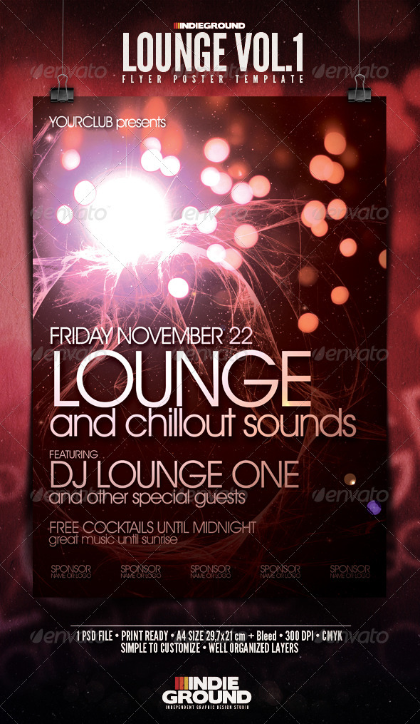 Lounge Flyer/Poster - Clubs & Parties Events