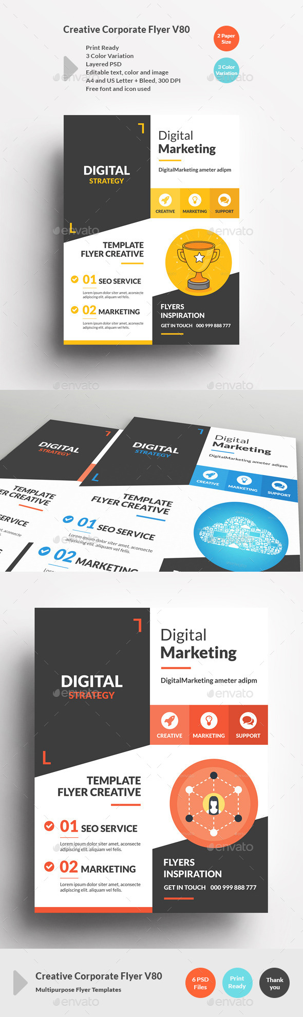 Creative Corporate Flyer V80 - Corporate Flyers