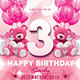 Pink Kids Birthday Invitation - GraphicRiver Item for Sale