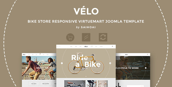 Velo – Bike Store Responsive VirtueMart Template