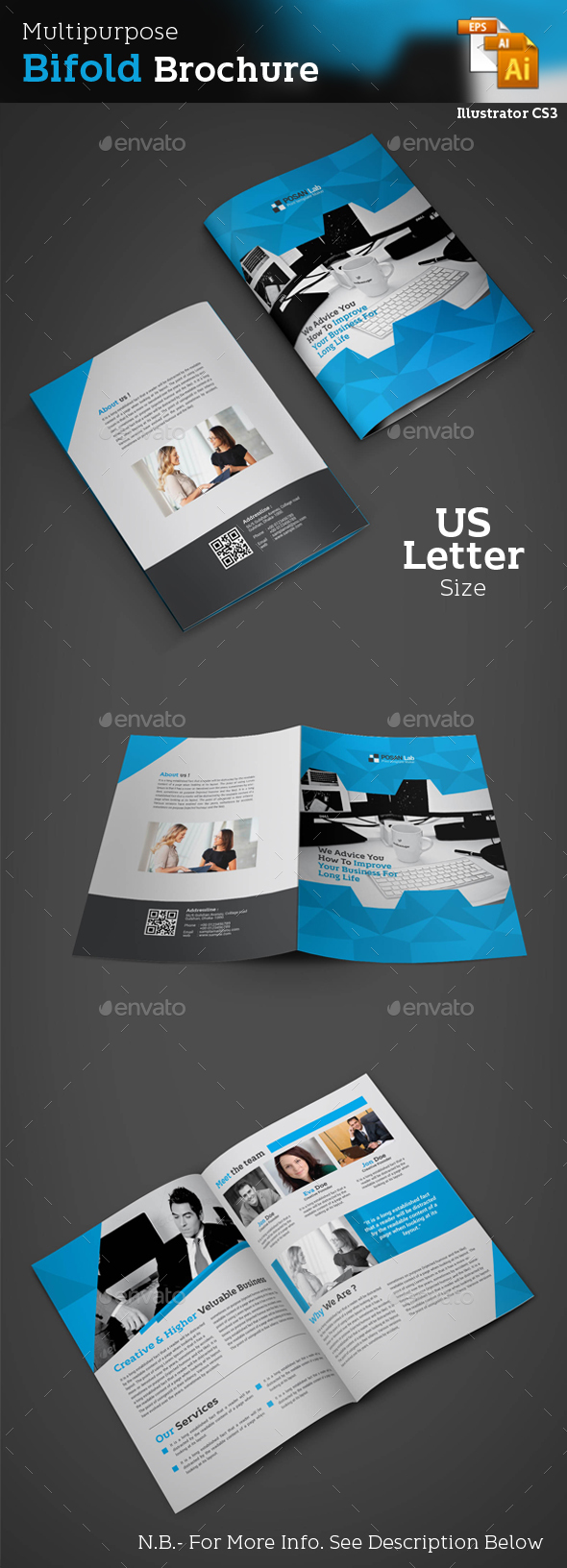 Business Bifold Brochure - Brochures Print Templates