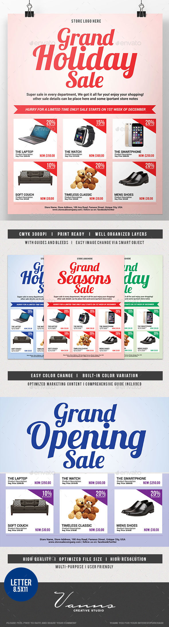 Multipurpose Promo Sales Flyer - Commerce Flyers