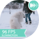 Girl Jumping And Running With a Dog In Winter Park - VideoHive Item for Sale