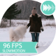 Young Girl Playing With a Dog In a Winter Field - VideoHive Item for Sale