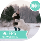 Cheerful Girl Playing With a Dog On a Snowy Meadow - VideoHive Item for Sale