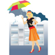 Rain in the city - GraphicRiver Item for Sale