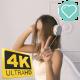 Girl Dancing In  The Big Headphones - VideoHive Item for Sale
