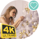 Young Blonde Dresses Up Christmas Tree - VideoHive Item for Sale