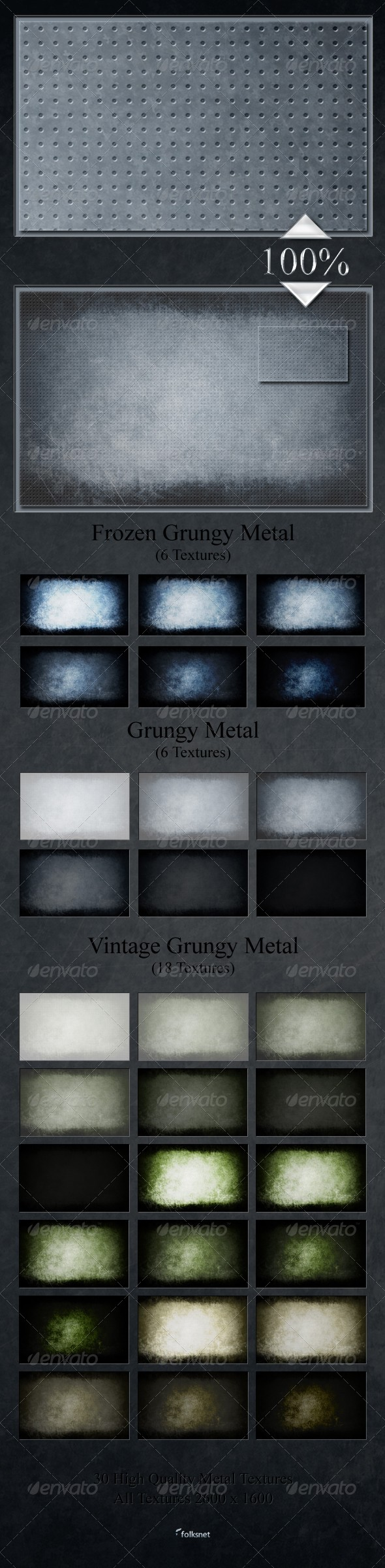 Grungy Metal Textures - Metal Textures