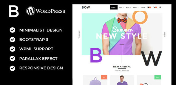 Bow – Responsive Woocommerce Theme