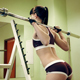 Beautiful Girl Does Exercise At Gym Sport club - VideoHive Item for Sale