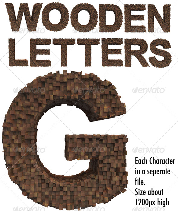Wooden Letters - Miscellaneous Graphics