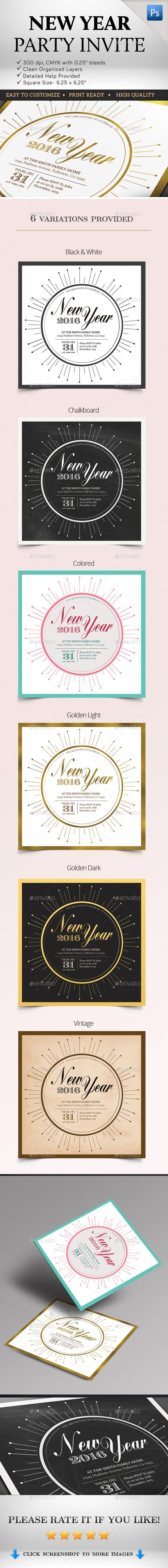 New Year Party Invites - Invitations Cards & Invites